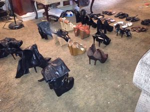 Women's shoe lot of 25(Heels,Boots,wedges,sandals..Sizes 7-8.5. All styles & Name brands .($100 for Lot or $10 apiece for Sale in Upland, PA