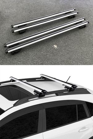 """New 2 Sizes: (48"""" for $35), (55"""" for $40) Universal Car Cross Bar Top Luggage Roof Rack Cargo Carrier for Sale in Whittier, CA"""
