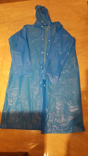 Waterproof Emergency Disposable Rain Coat adult one size fit all. Medium weight. 2 available. $3 each for Sale in Long Beach, CA