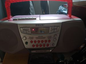 SONY. CD AND TAPE PLAYER IN RED for Sale in ONIZUKA Air Force Base, CA