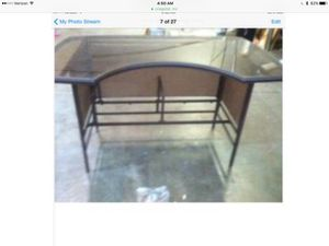 Used, Outdoor bar, chairs, table, wine vine, hawks Bbq turner, placemats for Sale for sale  Doraville, GA