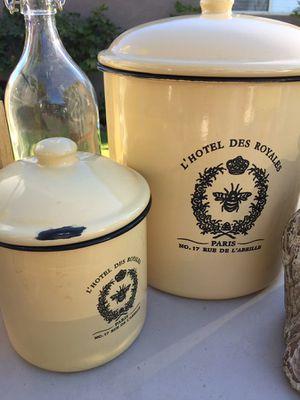 Decorative metal jar for Sale in Los Angeles, CA