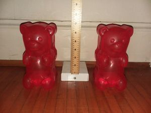 """Two Red 7"""" Gummy Bear Night Lights for Sale in Traverse City, MI"""