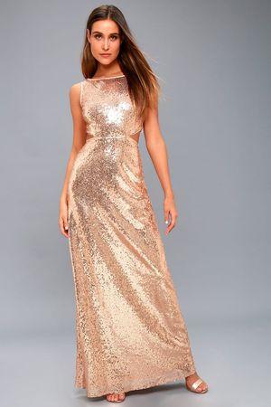 Lulu's gold maxi dress for Sale in Miami, FL