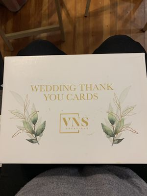 60 Wedding Thank you Cards with Envelopes for Sale in Dedham, MA