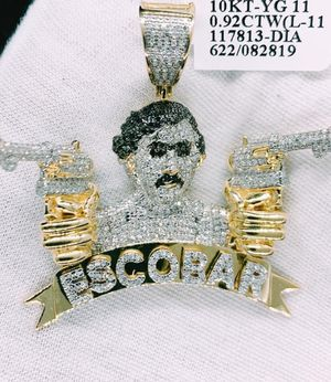 10kt Gold; 0.92 ctw diamond Pablo Escobar Charm for Sale in Indianapolis, IN