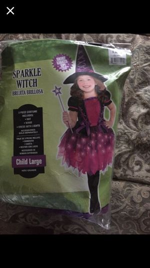 Girl Halloween Sparkle Witch Costume for Sale in Hampton, VA