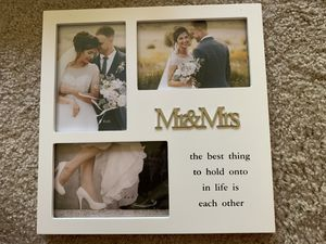 Couples wall hanging or table top 4 photo photo frame for Sale in Webster Groves, MO