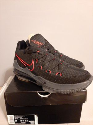 LeBron 17 Low BRED Nike Men's Size 9.5 Basketball Shoes for Sale in Alexandria, VA