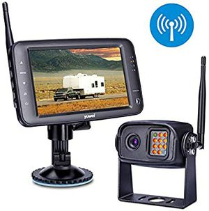 Wireless Backup Camera System Kit, IP69K Waterproof Wireless Rear View Camera LCD Wireless Reversing Monitor for Trailer, RV, Bus, Trucks for Sale in Los Angeles, CA