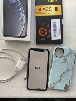 iPhone XR 64GB AT&T, Charger, Glass Screen Protector And Otterbox for Sale in Yeadon,  PA