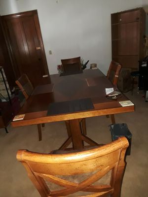 Dining Table with four nice chairs for Sale in Erie, PA