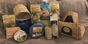 Rabbit or small animal hay, hay feeders, hideaways, etc. for Sale, used for sale  Catonsville, MD