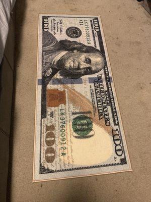 $100 BILL RUG. NEW! IN PACKAGE for Sale in Santa Monica, CA