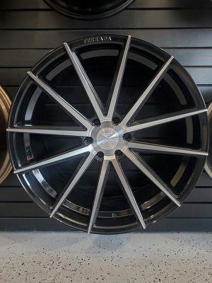 24x10 ferrada FT1 black machin fits tahoe silverado f150 yukon Sierra 6x139 and 6x135 rim wheel tire shop for Sale in Tempe, AZ