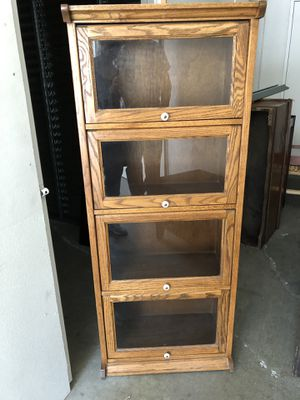 Solid oak lawyers bookcase for Sale in Normandy Park, WA