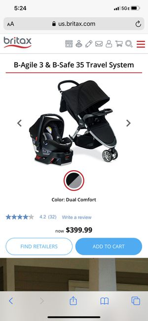 Britax travel system (stroller, base and car seat) for Sale in Pembroke Pines, FL