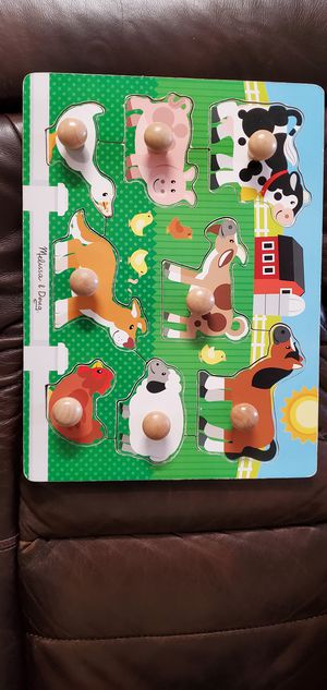 Melissa and Doug wooden animal farm puzzle for Sale in Tallahassee, FL