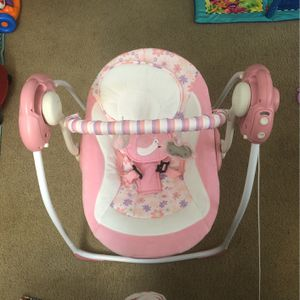 oothing Portable Swing,Comfort Electric Baby Rocking Chair with Intelligent Music Vibration Box That Can Be Used from The Beginning of The Newborn (Pi for Sale in Burbank, CA