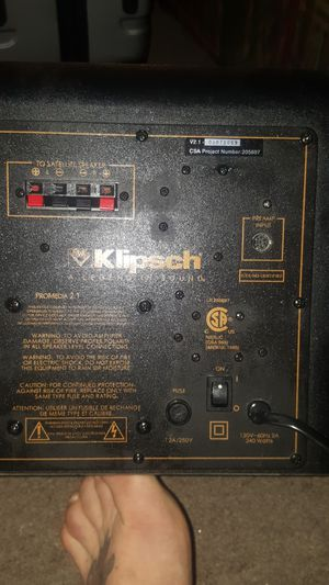 Klipsch amplified sub for Sale in Stanwood, WA