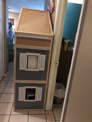 Wooden Frame dollhouse for large dolls such as American girl dolls for Sale in Dunedin, FL