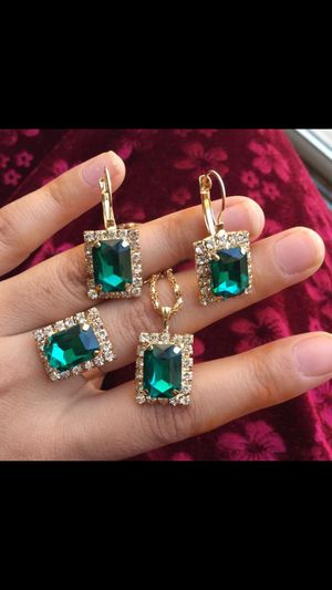 Gold plated jewelry set with adjustable ring for Sale in Silver Spring, MD