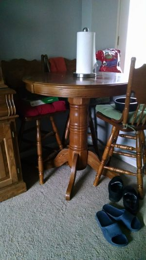 Pub table and 3 chairs for Sale in Denver, CO