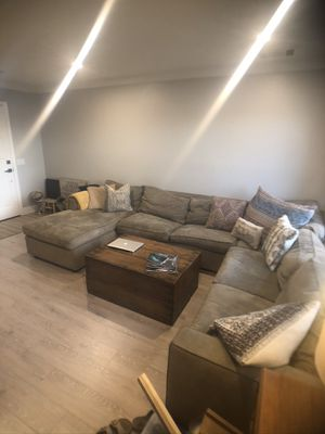 Suede Sectional Couch for Sale in Oceanside, CA