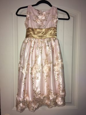 Pink and gold girls dress 9/10 for Sale in Fort Worth, TX