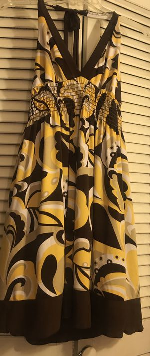 Brown/Yellow Open back dress Size M/L for Sale in Fort Lauderdale, FL