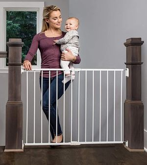 New in Box - Extra Wide Stairway and Hallway Walk Through Baby Gate for Sale in Cumming, GA