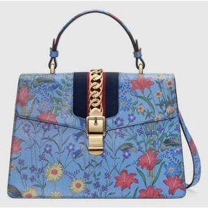 NEW Gucci Sylvie Shanghai New Flora Medium Top Handle Shoulder Bag$3850 for Sale in Denver, CO