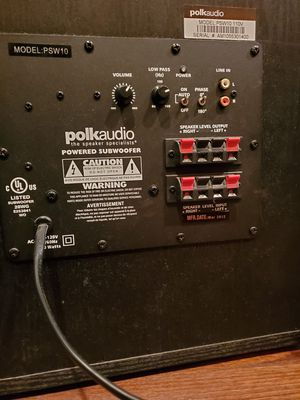 Polk Audio PSW10 subwoofer for Sale in Portland, OR