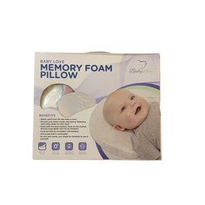 Head Shaping Memory Foam Baby Love Pillow and Bamboo Pillowcase Infant Flat Head for Sale in Rockville, MD