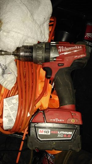 Milwaukee m18 fuel hammer drill and battery for Sale in Portland, OR