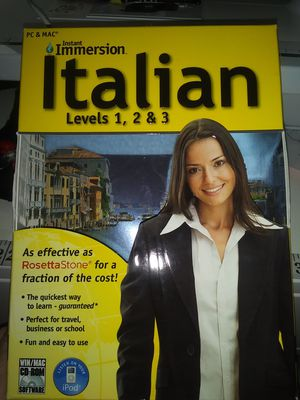Brand New Instant Immersion Italian Levels 1, 2, 3 for Sale in Phoenix, AZ