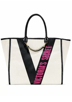 Victoria's Secret City Tote Bag Ribbon Logo Tape Hot Pink Logo for Sale in Baltimore, MD
