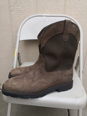 Ariat steel toe work boots size 11.5 D for Sale in Riverside, CA