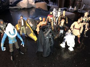 Lot of Star Wars Collectable Action figures & Vehicle for Sale in Carson, CA