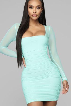 New fashion nova mint blue dress for Sale in Houston, TX