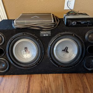 Subwoofer Box W/ Amp And Deck for Sale in San Diego, CA
