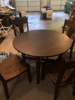 Wood Kitchen Table + Chairs for Sale in Snohomish, WA