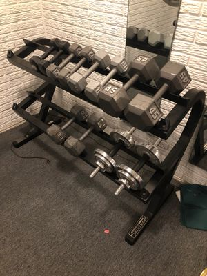 Dumbbells with rack for Sale in Columbus, OH