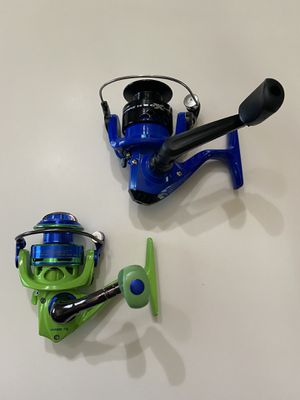 Lot of 2 spinning fishing reels, Lew's Wally Marshall & H2O Xpress for Sale in Alvin, TX