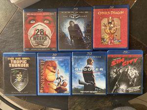 7 Blu-Ray Movies Bundle for Sale in San Diego, CA