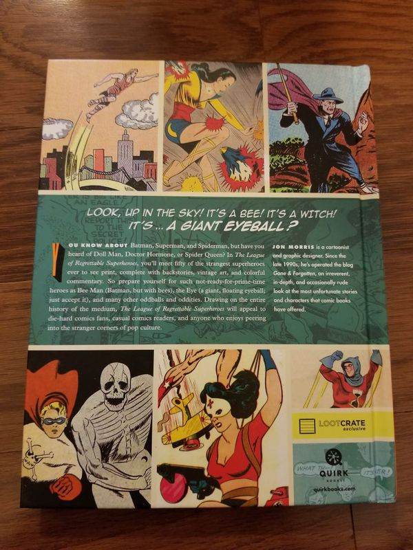 Loot crate exclusive The League of Regrettable Superheroes by Jon Morris book