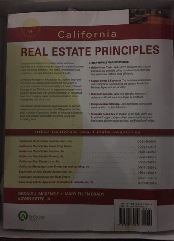 California Real Estate Principles for Sale in Los Angeles, CA - OfferUp