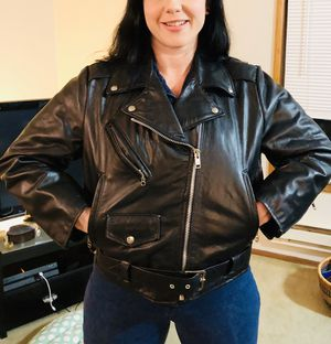Real Leather Motorcycle Jacket for Sale in Seattle, WA