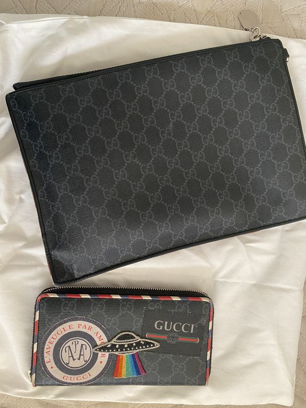 Authentic Gucci Pouch & Wallet set