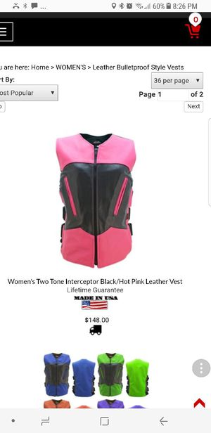 Motorcycle or Car club vest for Sale in McDonough, GA